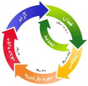 چرخه دامنه ها از زمان ثبت تا آزاد شدن مجدد