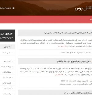 طراحی سایت کاشان پرس